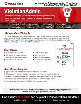 ViolatioAdmin violation management hotsheet