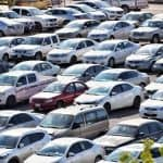 vehicles parked parking lot